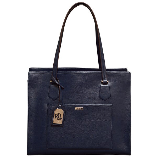 Ralph Lauren Lowell Navy Blue Tote Bag