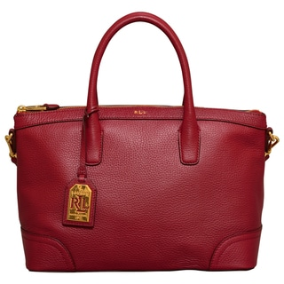 Ralph Lauren Fairfield Rosewood Satchel Handbag