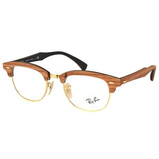 Ray-Ban RX 5154M 5560 Clubmaster Walnut Wood 51mm Eyeglasses