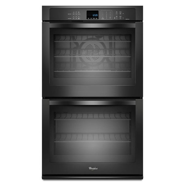 whirlpool black stainless steel 27 inch double electric wall oven 18710700. Black Bedroom Furniture Sets. Home Design Ideas