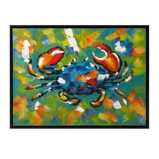 Crabby Framed Oil Painting
