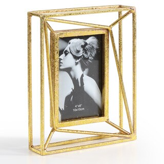 Danya B. Sparkling Gold Geometric 4 x 6 Photo Frame