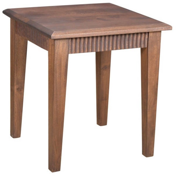 Marco Brown Wood Side Table