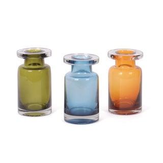 Hip Vintage Zhivago Blue/Orange/Green Glass Bottle Set