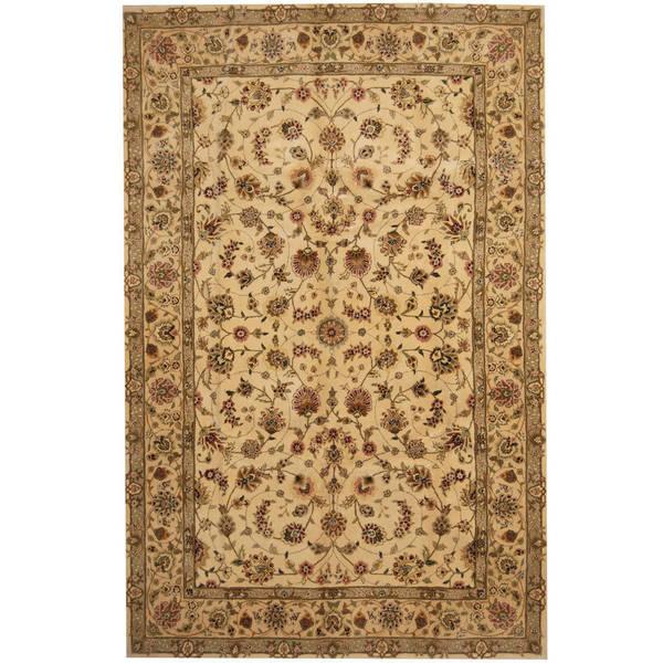Herat Oriental Indo Hand-tufted Tibetan Wool and Silk Rug (5'9 x 8'9) - 5'9 x 8'9 18583198