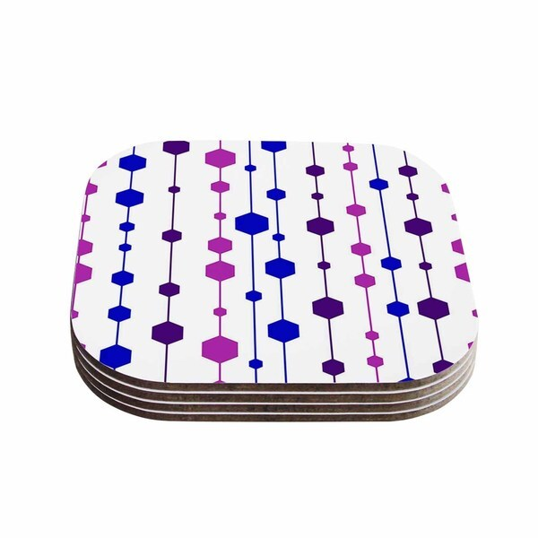 Kess InHouse NL Designs 'Cool Dots' Line Pattern Coasters (Set of 4)