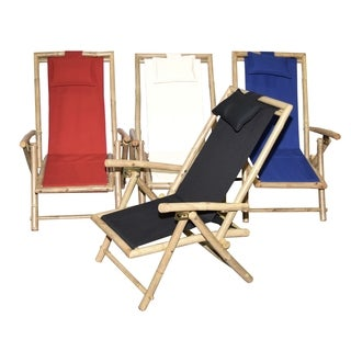 Set of 2 Bamboo Canvas Recliner