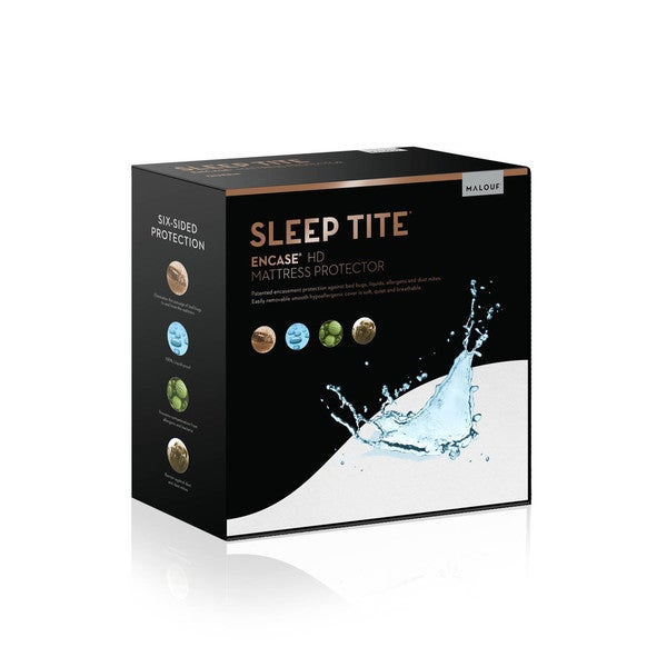 Sleep Title Encase, Lab Certified, Bedbug Proof, Hypoallergenic, Waterproof Mattress Encasement Protector
