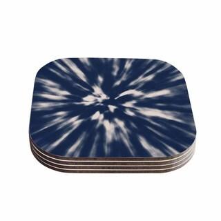 Nika Martinez 'Indigo Tie Dye' Blue Urban Coasters (Set of 4)
