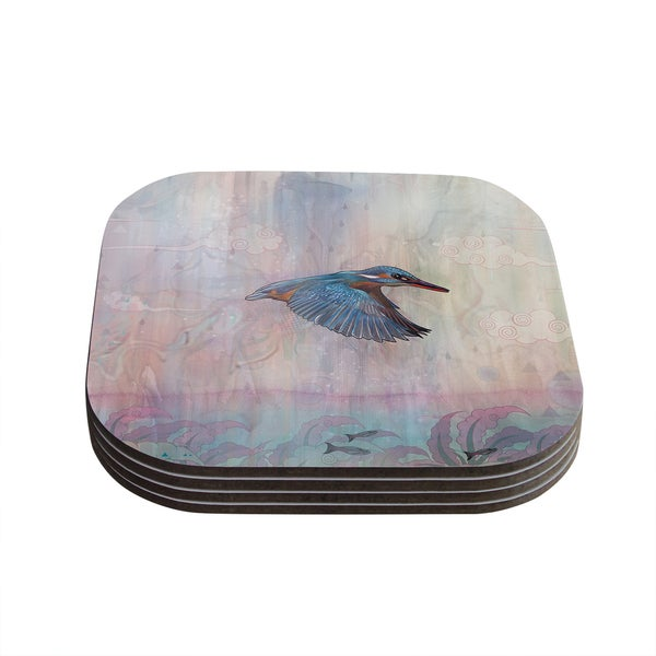Kess InHouse Mat Miller 'Terror from Above' Coasters (Set of 4)