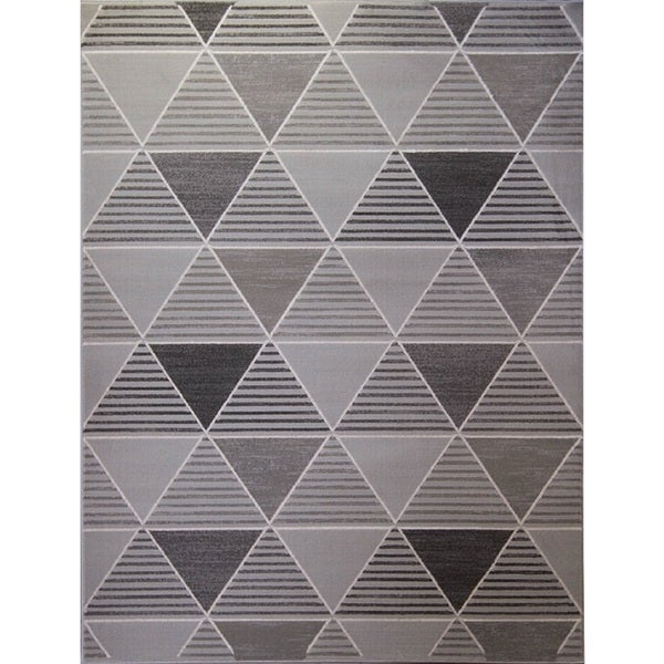 Home Dynamix Grey Killington Collection Machine Made Polypropylene Area Rug (31.5-inch x 47.2-inch)