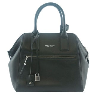 Marc Jacobs Black Textured Large Incognito Tote