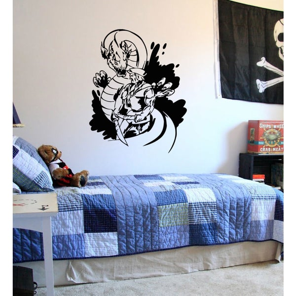 Fairy tale Dragon Knight Wall Art Sticker Decal