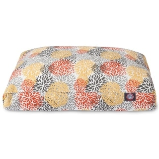 Citrus Blooms Outdoor Indoor Rectangle Dog Bed by Majestic Pet