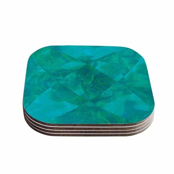 Kess InHouse Matt Eklund 'Under The Sea' Teal Green Coasters (Set of 4)