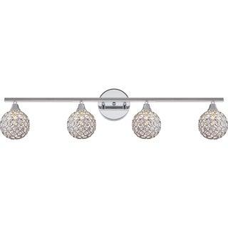 Quoizel Platinum Collection Shimmer Polished-chrome Steel 4-light Bath Fixture