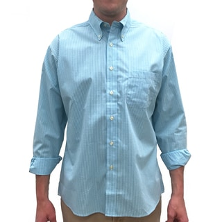 Bills Khakis Standard Issue Turquoise Polyester/Cotton Plaid Button-down Shirt