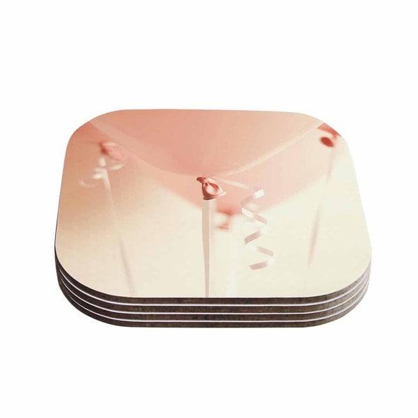 Kess InHouse Kristi Jackson 'I Believe In Pink' Pink Photography Coasters (Set of 4)