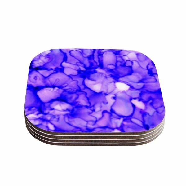 Kess InHouse Claire Day 'Purple' Lavender Coasters (Set of 4)