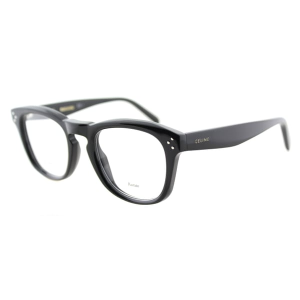 Celine CL 41382 807 Black Plastic 48mm Square Eyeglasses