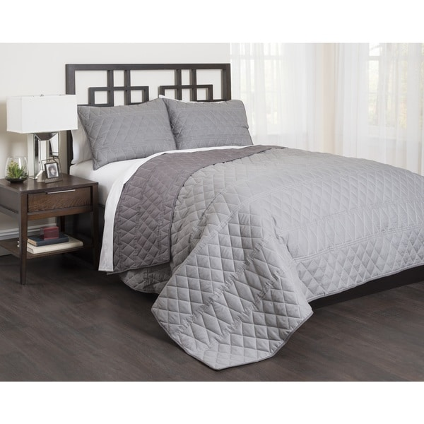 Geo 3-piece Cotton Quilt Set