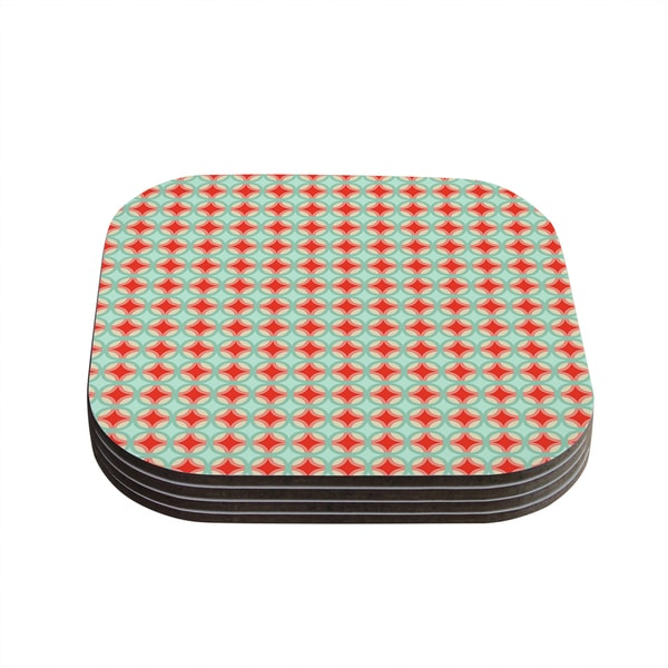 Kess InHouse Catherine McDonald 'Retro Circles' Coasters (Set of 4)