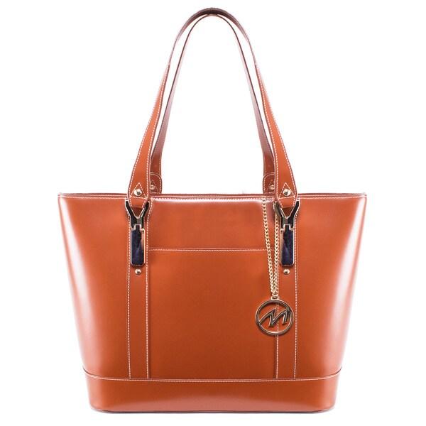 McKlein USA Arya Leather Tablet Shoulder Bag