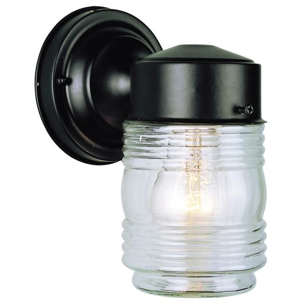 Bel Air Lighting CB-4900-BK 4-inch Black Jelly Jar Outdoor Light Fixture