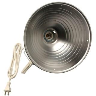 "Coleman Cable 00162 10"" White Aluminum Clamp Lamp"