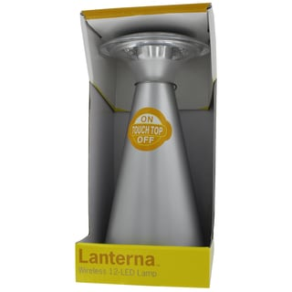 Fulcrum Products Inc 24411-101 Silver LED Wireless Touch Lanterna Light