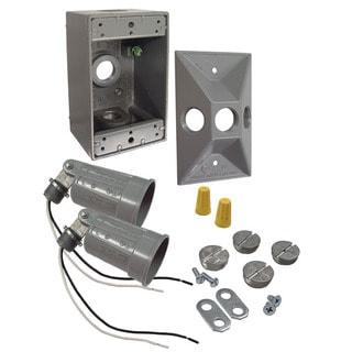 Bell Outdoor 5818-5 75 To 150 Watt Gray Rectangular Dual Lampholder Kits