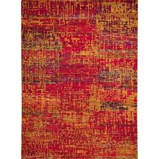 Sari Silk Kamdyn Rust Hand-knotted Rug (8'11 x 12)