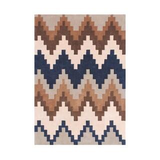 Alliyah Rugs New Zealand Wool Chevron Borderless Area Rug (5'x8')