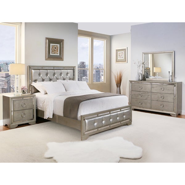 Valentino Bedroom Furniture Silver Collection Chest Of