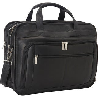 LeDonne Oversized Leather Laptop Briefcase