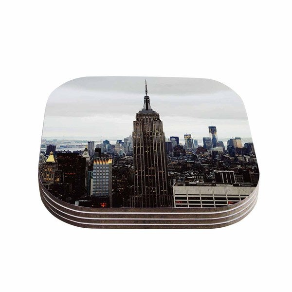 Kess InHouse Chelsea Victoria 'New York Stories' Urban Travel Coasters (Set of 4)