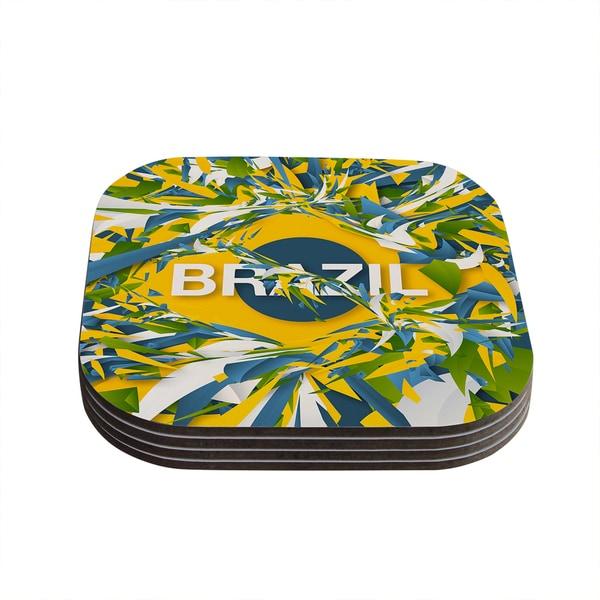 Kess InHouse Danny Ivan 'Brazil' World Cup Coasters (Set of 4) 18588371