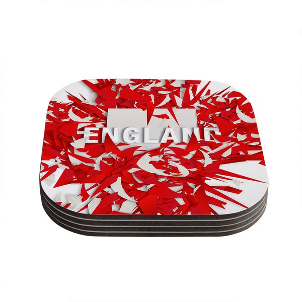 Kess InHouse Danny Ivan 'England' World Cup Coasters (Set of 4)