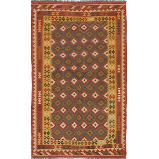 ecarpetgallery Handmade Anatolian Red Wool Kilim Rug (4'11 x 8'2)
