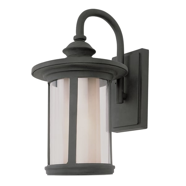 Bel Air Lighting CB-40040-BK 1 Light Doutdoor Wall Lantern with Double Glass 18588615