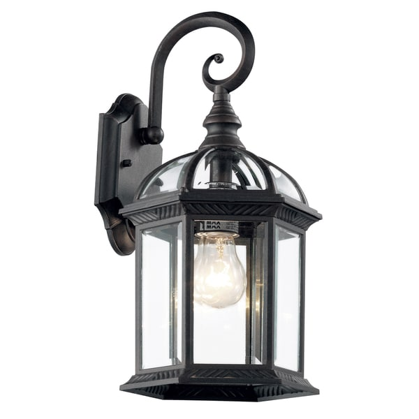 Bel Air Lighting CB-4181-BK 16-inch Black Outdoor Lantern Fixture