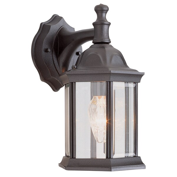 Bel Air Lighting CB-4349-BK 12-inch Black Outdoor Lantern Fixture