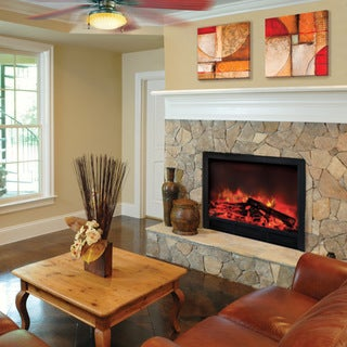 Blaze Electric Fireplace Insert With Remote Control and 2-speed Heater