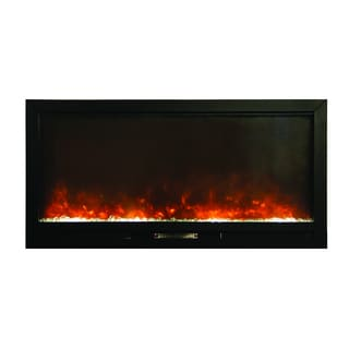 Beautifier Built-in Electric Fireplace with Log or Coal Flame Enhancers with Remote Control Wall Mounted Insert Design