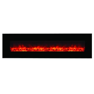 The Master of Romance Wall Mounted Electric Fireplace with Remote Control Realistic Flame