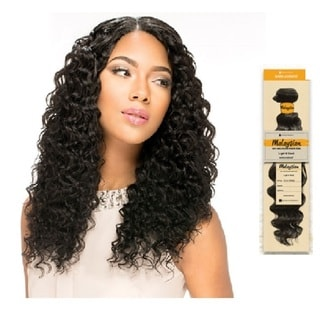 Sensationnel Black 100-percent Unprocessed Human Hair 18-inch Malaysian Weave Hairs