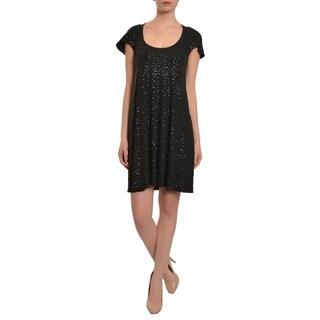 Marc Bouwer Little Black Jersey Knit Evening Dress Size 4