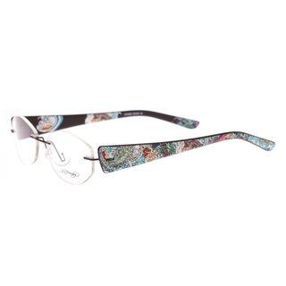 Ed Hardy EHL-818 Silver Lite Designer Eyeglasses