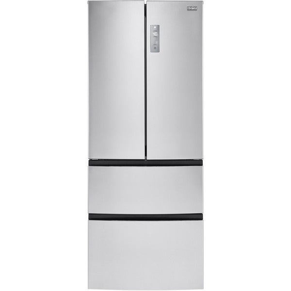 Haier 28 Inch Wide Foot 4 Door French Door Bottom Mount Refrigera
