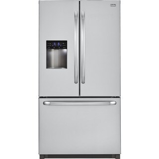 Haier Stainless Steel 23.5 Cubic Foot French Door Bottom Mount Refrigerator With LED Lighting